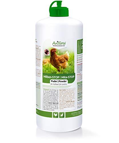 AniForte Milben-Stop Puder 1 Liter in Stäube-Flasche, Diatomeenerde, Naturprodukt für Hühner und...