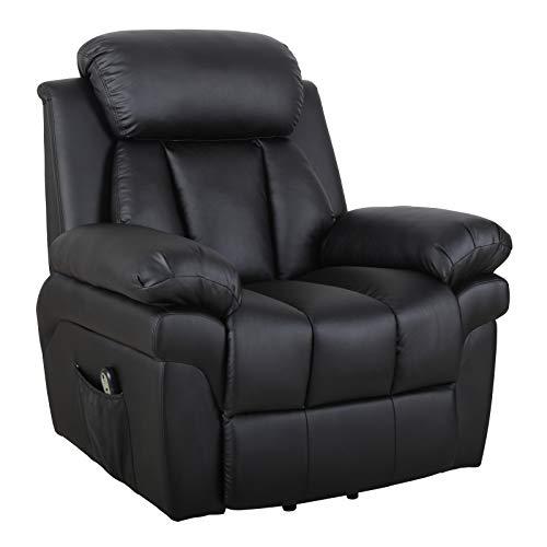 HOMCOM Elektrischer Fernsehsessel Aufstehsessel Relaxsessel Sessel mit Aufstehhilfe (schwarz)