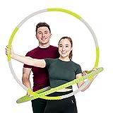 STRK Fitness Hula Hoop per riduzione del peso, 8 pezzi, pneumatici rimovibili per adulti, in acciaio inossidabile, con pesi in schiuma, larghezza 94 cm, con borsa per il trasporto
