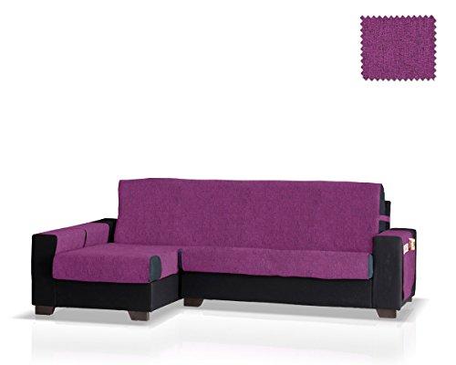 JM Textil Funda de sofá Chaise Longue Pharma Brazo Izquierdo, Tamaño Grande (275 Cm.), Color Lila