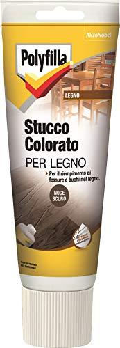 Polyfilla 5096618 Stucco COLORATO per Legno Pasta Noce Scuro 230 ml