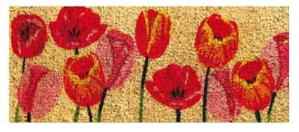 CASA TESSILE Zerbino Mini in Cocco cm 23X53 Duplo - Dis. Tulipani