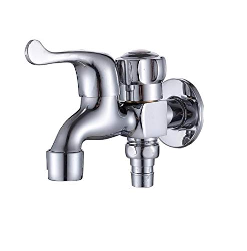 All copper wash three-way single cold one into two out D a pointed one net washing machine faucet mop pool faucet balcony faucet