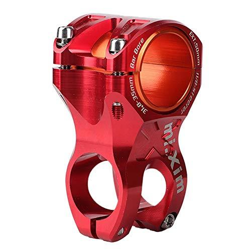 VGEBY1 Fahrrad-Lenkervorbau, Fahrrad Vorbau rostfrei, mit Adapterring für Durchmesser 35 mm / 31,8 mm Fahrradlenker, rot