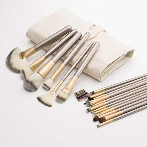 MLYJC Pinceaux Maquillage kit Pinceaux de maquillage professionnel Set Soft Cosmetic Make Up Tools Foundation Powder Blush Eyeliner Brush, 18pcs avec sac blanc