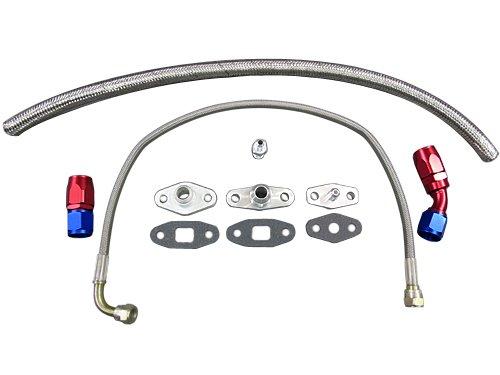 Oil Line Flange Fitting Kit For Toyota Supra 7MGTE Single Turbo 8PCS