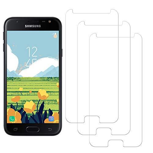 SNUNGPHIR Samsung Galaxy J3 2017 Protector Pantalla, Cristal Templado para Samsung Galaxy J3 2017, Anti-arañazos, Anti-Huella Digital, Sin Burbujas, 3 Unidades