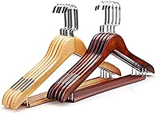 PPuujia Cintres en bois pour manteaux, penderie, penderie, penderie, rangement pour vêtements, pantalons, robes, cintres (...