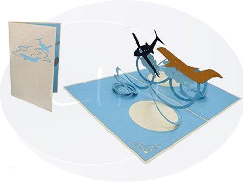 POP UP 3D Grußkarten Gutschein Sammelkarte Horizon Flugzeuge (#149)