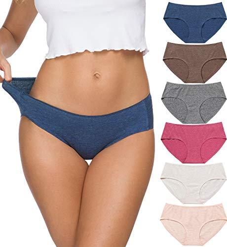 Wealurre Damen viscose cotton bikini breathable schlüpfer seamless comfort unterwäsche groß dark 2