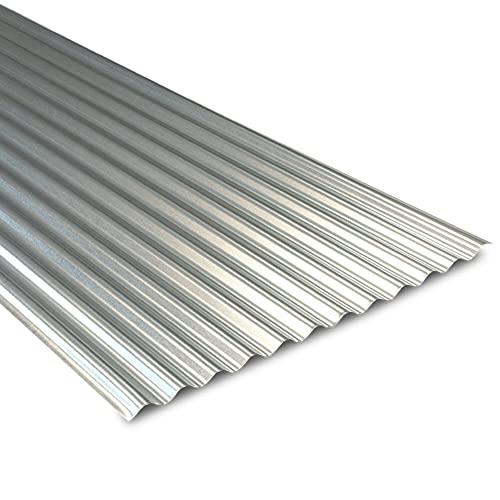 Tôle Ondulée Galvanisée pour Couverture et Bardage Métallique - Acier 0.50 mm - 2100 x 900 x 18 mm - BOTAN - Ultra-résistante, Durable, Solide - YOUSTEEL