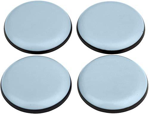 DFM - Protectores de muebles (4 unidades, redondos, 65 mm de diámetro, 5 mm de grosor, autoadhesivos, protectores de suelo)