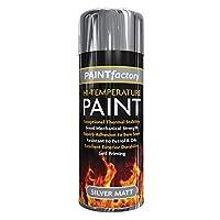 400ml Heat Resistant Matt Silver Spray Paint Stove Exhaust High Temperature.
