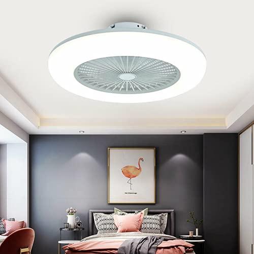 Lampada da soffitto a LED da 22 pollici + telecomando, 3 colori, Dimmerabile, ventilatore da soffitto con Luce, silenzioso, 3 velocità regolabile, illuminazione camera ventilatore da estern