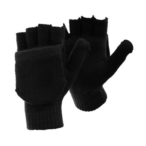 FLOSO - Guantes sin dedos convertibles manoplas invierno