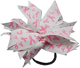 25 Pack Pink Ribbon Hair Bows - 25 Bows