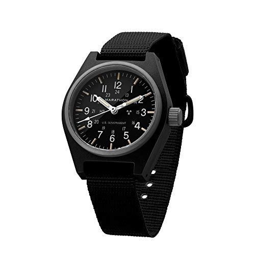 Marathon General Purpose Mechanical (GPM) Military Field Watch with Tritium and Sapphire Crystal (34mm, Black) WW194003BK