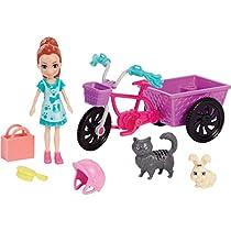 Polly Pocket Bicicleta Aventura com Bichinho Mattel