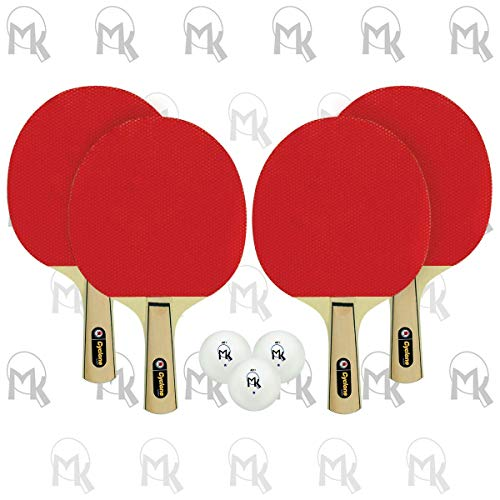 Why Should You Buy Martin Kilpatrick Cyclone Shakehand Table Tennis 4-Player Set Series | Offers Lim...