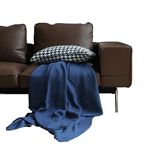 HCYTPL – 140 x 200 cm – effen blauw – geschikt voor de meeste 2-zitsbanken – plaid voor kingsize bedden – onderhoudsvriendelijk – #1
