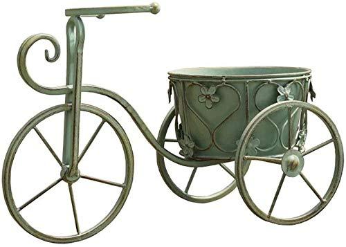 N / A Soporte De Flores Soporte De Planta Retro-Art Bonsai Soporte De Exhibición-Verde Bicicleta Vieja Maceta Balcón Decoración De Jardín Decor Durable Flores Estantería Soporte para Plantas