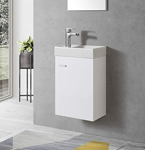 Badmöbel Unterschrank TOURI 40 in weiß inkl. Waschtisch