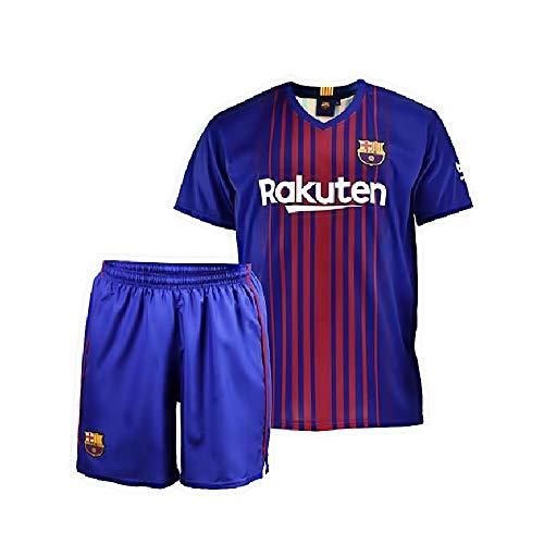 Conjunto - Kit 1ª Equipación Replica Oficial FC BARCELONA 2017-2018 Sin Dorsal LISO - Tallaje NIÑO (14 AÑOS)