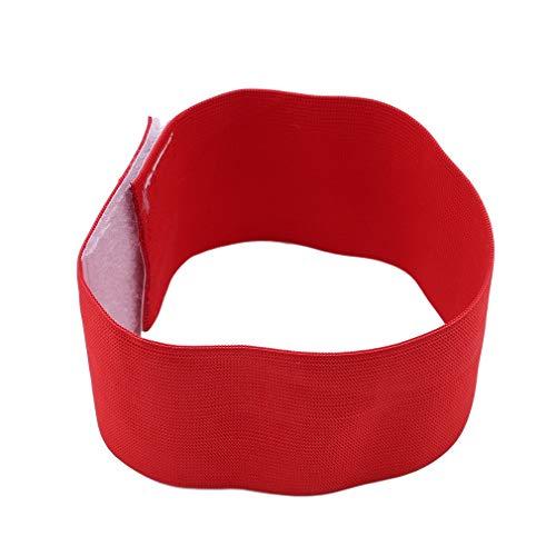 Pinhan Soccer Soccer Match Elastic Paste Armband, verstellbare Spieler-Sportbänder für Erwachsene und Kinder, rot