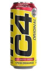 Cellucor C4 Original Carbonated Zero Sugar Energy Drink, Pre Workout Drink + Beta Alanine, Sparkling