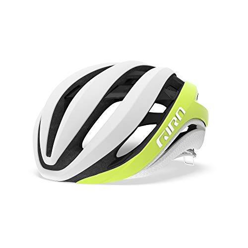 Giro Aether MIPS Adult Road Cycling Helmet - Small (51-55 cm), Citron/White (2019)