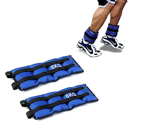 Pack de dos pesas de 6 Kilos para tobillos y/o muñecas para correr o gimnasio