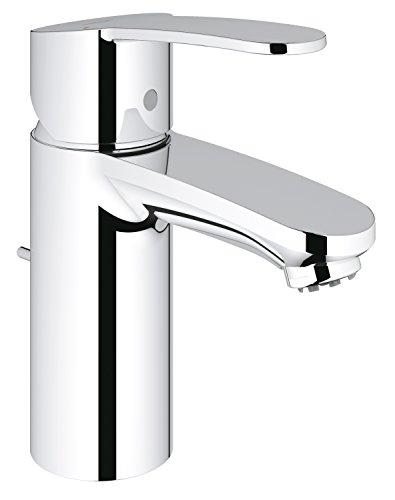Grohe 33561002 Eurostyle Cosmopolitan, Badarmatur - Einhand-Waschtischbatterie, NIEDERDRUCK für offene Warmwasserbereiter, chrom, S