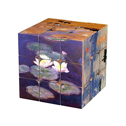 Leeec Cubo Velocidad de Girasol de Van Gogh Bi Xingkong Gaso Da Vinci Monet Famoso Cuadro como un Juguete Regalo Creativo,D1