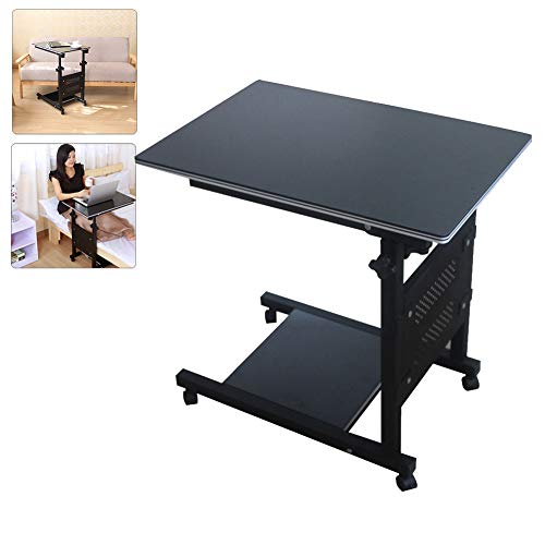 DNNAL Portable Table d'appoint, Table Mobile Mobile de Table de Taille réglable Pliable de Taille de Tableau Mobile médical approprié pour des familles ou des hôpitaux,B