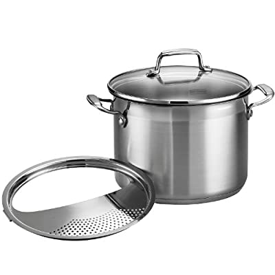 Tramontina 80120/000DS Tramontina Gourmet Stainless Steel Covered Stock Pot