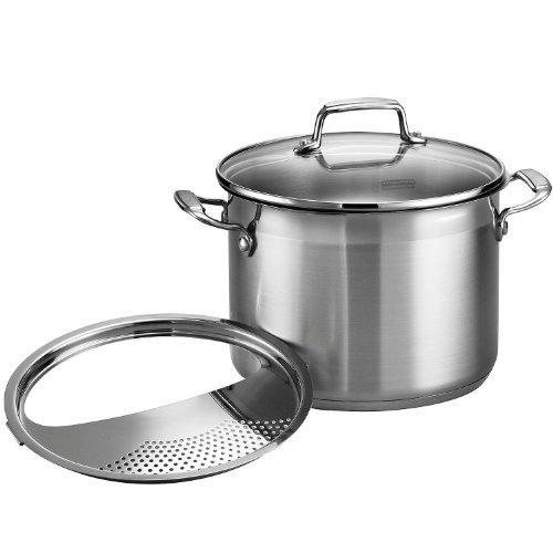 Tramontina Pasta Cooker Gourmet Stainless Steel 3-Piece 6-Quart, 80120/200DS