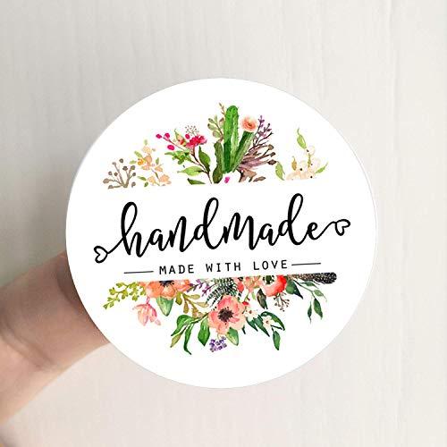 Handmade Made with Love Stickers, Handmade Stickers, Handmade with Love Labels, Packaging Stickers, Handmade Labels, Craft Stickers 120pcs set