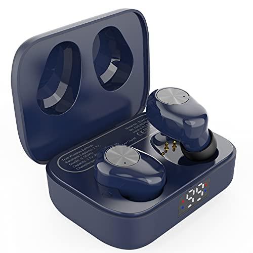 Amazon Brand - Eono Auriculares de botón inalámbricos Eonobuds 1 con Bluetooth, Sonido nítido,IPX7 de impermeabilidad,Carga USB-C,Auriculares Bluetooth en la Oreja para el Trabajo