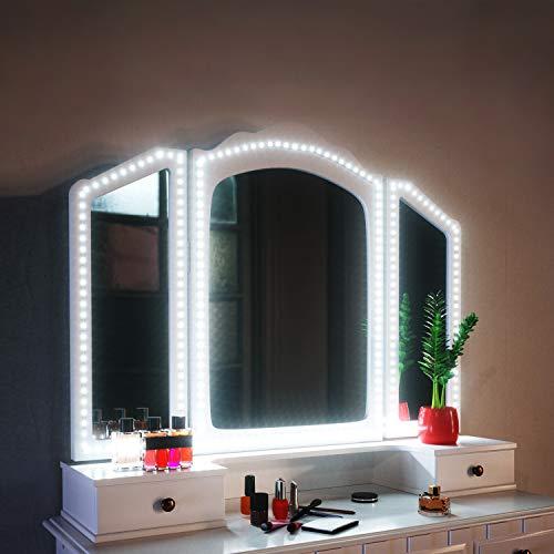SHINELINE Spiegelleuchte, 4M/13Ft Led Spiegelleuchte 6000k mit Netzteil und Dimmbar für Schminktisch mit Beleuchtung.Schminklicht,Schminklampe,MEHRWEG.(Spiegel Nicht Inbegriffen)