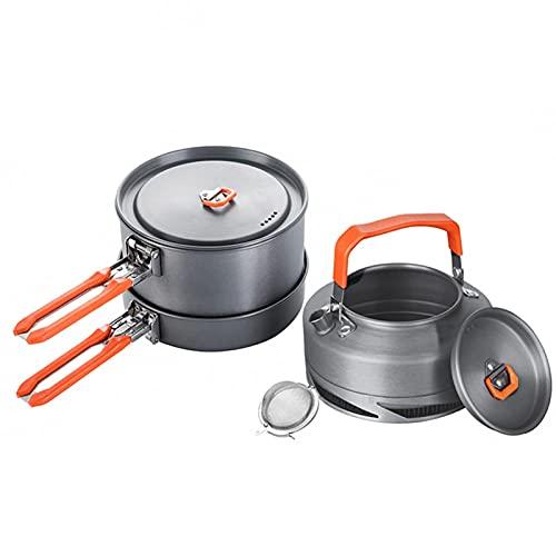 YourBoob Kit De Utensilios De Cocina Portátil para Acampar Al Aire Libre Aluminio Ultraligero Juego De Cocina para Olla para Acampar para Acampar Senderismo