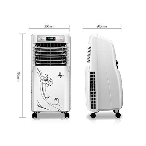 XPfj Climatizzatore Portatile Senza Tubo Silenzioso,Condizionatori A Evaporazione Refrigeratore,Pulizia Argoclima Relax Purificare L'aria Umidificazione Display LC Bianca