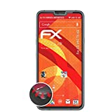 atFolix Schutzfolie kompatibel mit LG V40 ThinQ Folie, entspiegelnde & Flexible FX Bildschirmschutzfolie (3X)