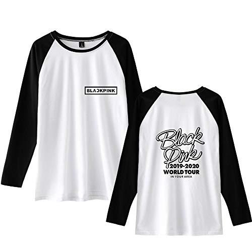 Landove Blackpink Pullover Unisex Baseball T Shirt Lange Mouwen