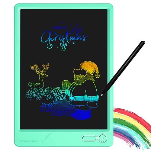 KURATU LCD Writing Tablet 10 Inch Electronic Drawing Pads, Portable Reusable Erasable Ewriter Elder Message Board, Digital Handwriting Pad Doodle Board for School, Fridge or Office,(Green)