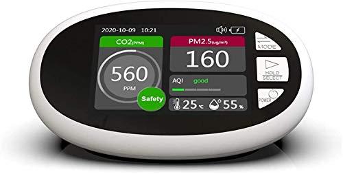 WNN-URG Luftqualitätsmonitor CO2 Messinstrument 3,5 Zoll LCD-Bildschirm Portable CO2 PM2.5 Uhr 1.0 PM10 HCHO TOVC Luftqualität Indominierende heiße Luftfeuchtigkeit Infrarot Ndir Indoor Outdoor Hochpr