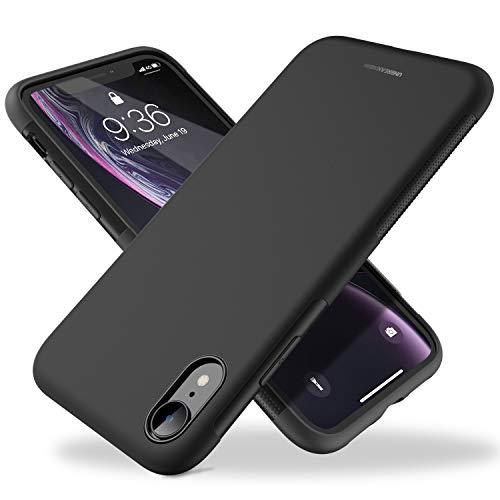 UNBREAKcable iPhone XR Hülle – [Fallschutz, rutschfest] Weiche, mattierte TPU Ultra-dünne Stylische Handyhülle Case, Cover für 6,1 Zoll iPhone XR – Matt Schwarz