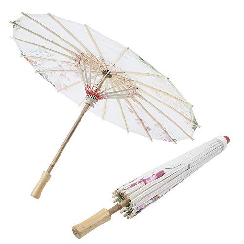 Oumefar Stabiler ordentlicher langlebiger exquisiter Regenschirm geöltes Papier-Sonnenschirm Umweltfreundlicher Vintage-Sonnenschirm(Kapok Love)