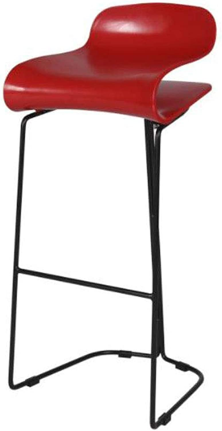 Barstools, Nordic Modern Minimalist Personality Creative Fashion High Chair Bar Cafe Massage Salon Beauty Chair (color   Red 1, Size   65CM)