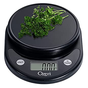 Ozeri ZK14-AB Pronto Digital Multifunction Kitchen and Food Scale Standard Silver On Black