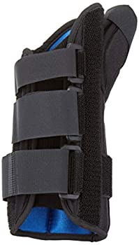RolyanFit Wrist and Thumb Spica Left Large MP & CMC Joint Support and Stabilizer Secure Brace & Splint for Thumb with Open Finger Splint for Pain Strains Arthritis Carpal Tunnel & DeQuervains